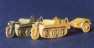 Trident NSU HK-101 Half-Track Motorcycle Kettenkraftrad Sand HO Scale Model Railroad Vehicle #90124