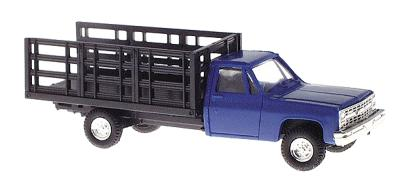 Trident Chevrolet Pickup w/Stakebed Body Blue HO Scale Model Railroad Vehicle #901532