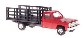 Trident Chevrolet Pickup w/Stakebed Body Red HO Scale Model Railroad Vehicle #901533