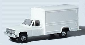 Trident Miniatures Chevrolet Pickup Cab w/Special Body White -- HO Scale Model Railroad Vehicle -- #901541