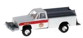 Trident Brush (Off-Road) Fire Pumper White HO Scale Model Railroad Vehicle #901631