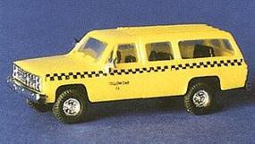 Trident Taxi Yellow Cab & Black Checkered HO Scale Model Railroad Vehicle #90167