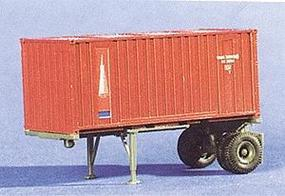 Trident 20 Single Axle Container Chassis w/20 Container HO Scale Model Railroad Vehicle #90181