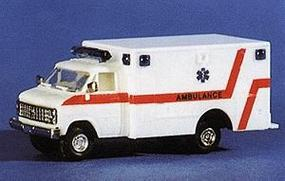 Trident Chevrolet G.G.D. Ambulance White & Red Stripe HO Scale Model Railroad Vehicle #90182