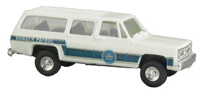 Trident US Border Patrol Chevrolet Suburban White & Blue HO Scale Model Railroad Vehicle #90193