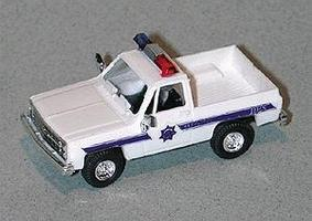 Trident Chevy Pick Up Arizona Highway Patrol White & Blue Stripe HO Scale Model Railroad Vehicle #9019