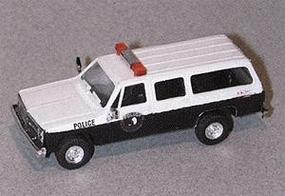 Trident Chevy Suburban White Settlement Police Black & White HO Scale Model Railroad Vehicle #90195