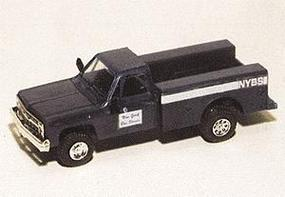 Trident Chevy Pick Up w/Utility Box NY Bus Services Blue HO Scale Model Railroad Vehicle #90202