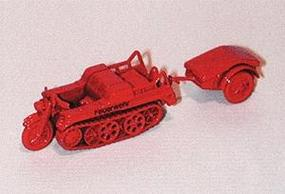 Trident NSU HK101 Half Track w/Trailer Fire Department Red HO Scale Model Railroad Vehicle #90204