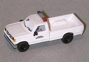 Trident Ford Extended Cab Pick-Up State Police White HO Scale Model Railroad Vehicle #90216
