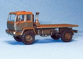 Trident M1080 Single-Axle Flatbed Olive HO Scale Model Railroad Vehicle #90244