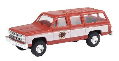 Trident Miniatures Chief's Car Fire Department Command -- HO Scale Model Railroad Vehicle -- #90265