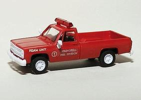 Trident Chevrolet Truck Springfield Fire Dept. Foam Unit HO Scale Model Roadway Vehicle #90309