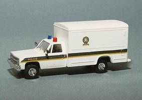 Trident Chevrolet Pick Up w/Box Body Quebec Police Dept. White HO Scale Model Roadway Vehicle #90313