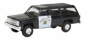 Trident Chevrolet Suburban California Highway Patrol HO Scale Model Roadway Vehicle #90357
