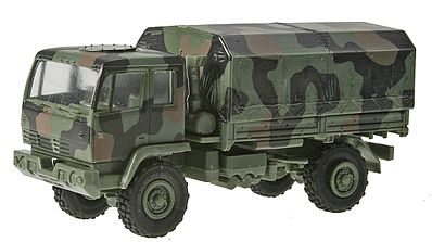 Trident Miniatures M1078 Single-Axle Heavy-Duty Flatbed Truck -- HO Scale Model Railroad Vehicle -- #90369
