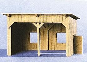 Trident Resin Open Wooden Shed HO Scale Model Railroad Building #99009