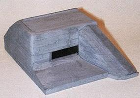 Trident Resin Left Flank Bunker (Gray) HO Scale Model Railroad Building #99013