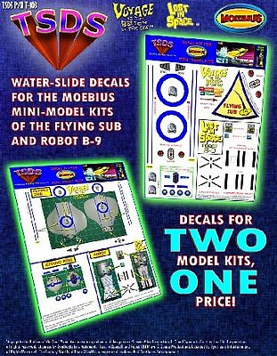 TSDS Mini Flying Sub & LiS Robot Decal Set for MOE Science Fiction Model Decal 1/128 #103