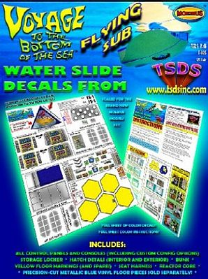 TSDS Flying Sub Decal Set for MOE -- Science Fiction Plastic Model Decal -- 1/32 Scale -- #105