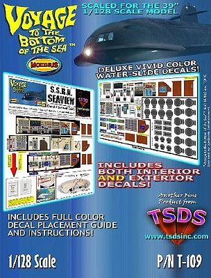 TSDS Seaview Submarine Decal Set for MOE Science Fiction Plastic Model Decal 1/128 Scale #109