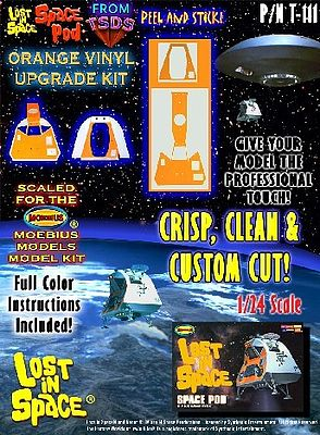 TSDS LiS Space Pod Vinyl Upgrade Kit for MOE -- Science Fiction Plastic Model Decal -- 1/24 Scale -- #111