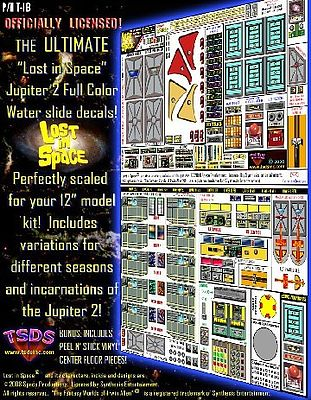 TSDS LiS- Jupiter 2 Spaceship Decal Set for PLL 12'' Model -- Science Fiction Model Decal -- 1/60 -- #113