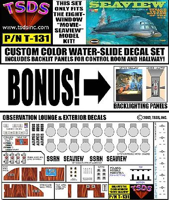 TSDS Seaview 8-Window Submarine Movie Version Decal Set for MOE -- Decal -- 1/128 -- #131