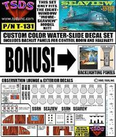 TSDS Seaview 8-Window Submarine Movie Version Decal Set for MOE Decal 1/128 #131