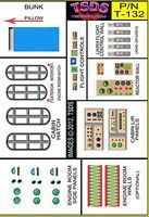 TSDS Vintage Flying Sub Decal Set for Aurora/Monogram Science Fiction Model Decal 1/60 #132