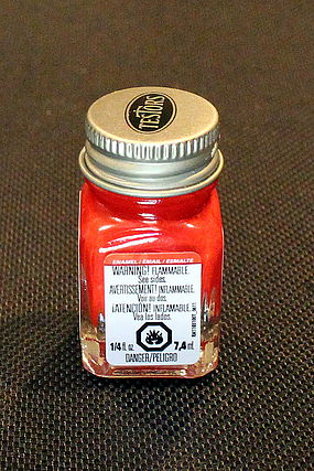 Testors Red 1/4 oz Carded Hobby and Model Enamel Paint #1103c2