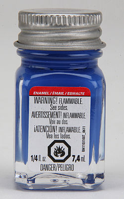 Testors Cobalt Blue 1/4 oz -- Hobby and Model Enamel Paint -- #1106tt