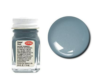 Testors Gray 1/4 oz -- Hobby and Model Enamel Paint -- #1138tt