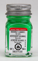 Testors Green Fluorescent 1/4 oz Hobby and Model Enamel Paint #1174tt
