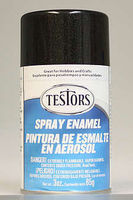 Testors Spray Black Metallic Enamel 3 oz Hobby and Model Enamel Paint #1254t