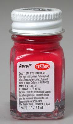 Testors *RED 1/4OZ. ACRYLIC 12BX