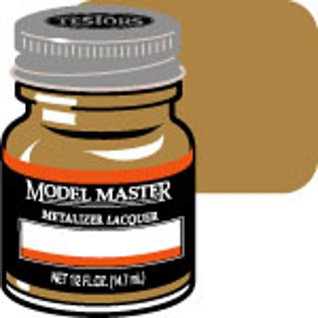 Testors Model Master Brass No Buff Metallic 1/2 oz Hobby and Model Lacquer Paint #1417
