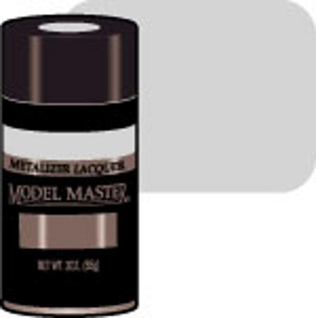 Testors Model Master Spray Aluminum Plate Buff 3 oz -- Hobby and Model Lacquer Paint -- #1451