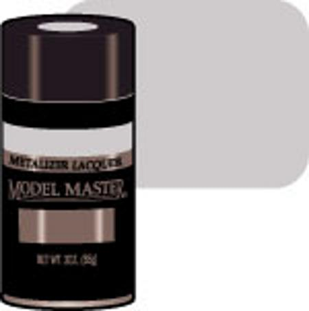 Testors Model Master Spray Stainless Steel Buff 3 oz -- Hobby and Model Lacquer Paint -- #1452