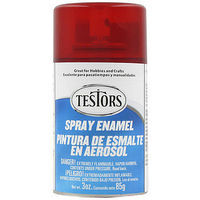 Testors Spray Custom Red 3 oz Hobby and Model Enamel Paint #1605