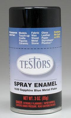 Testors Spray 3oz Sapphire Blue Metal Flake