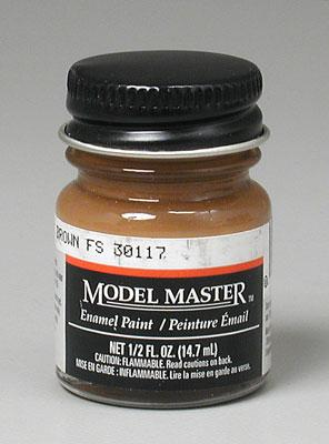 Testors Model Master Military Brown 30117 1/2 oz -- Hobby and Model Enamel Paint -- #1701