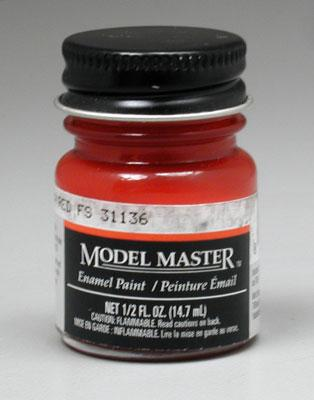 Testors Model Master Insignia Red 31136 1/2 oz -- Hobby and Model Enamel Paint -- #1705
