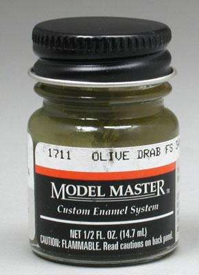 Testors Model Master Olive Drab 34087 1/2 oz -- Hobby and Model Enamel Paint -- #1711