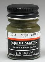 Model Master Olive Drab 34087 1/2 oz Hobby and Model Enamel Paint #1711