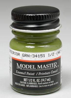 Testors Model Master FS Interior Green (FS 34151) Hobby and Model Enamel Paint #1715