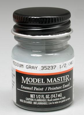 Testors Model Master Medium Gray 35237 1/2 oz -- Hobby and Model Enamel Paint -- #1721