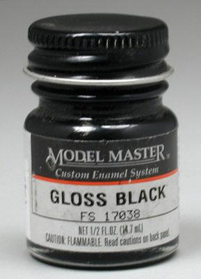Testors Model Master Gloss Black 17038 1/2 oz -- Hobby and Model Enamel Paint -- #1747