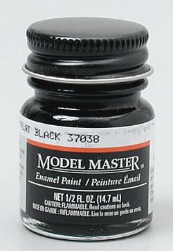 Testors Model Master Flat Black 37038 1/2 oz -- Hobby and Model Enamel Paint -- #1749