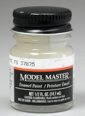 Testors Model Master Flat White 37875 1/2 oz Hobby and Model Enamel Paint #1768